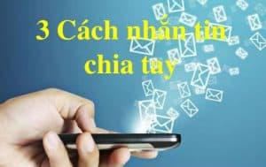 cách chia tay bằng tin nhắn